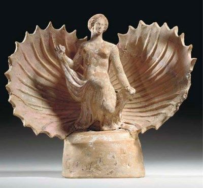 A GREEK TERRACOTTA APHRODITE
