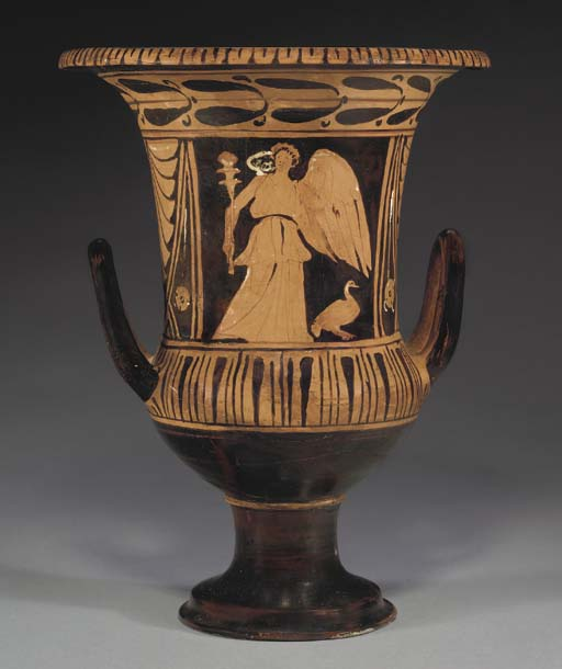 AN ETRUSCAN RED-FIGURED CALYX-
