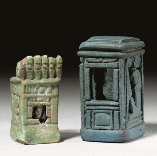TWO EGYPTIAN AMULETS