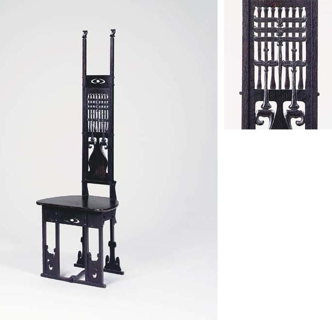 A CARVED OAK HALL CHAIR | CHARLES ROHLFS, 1900 | Christie's