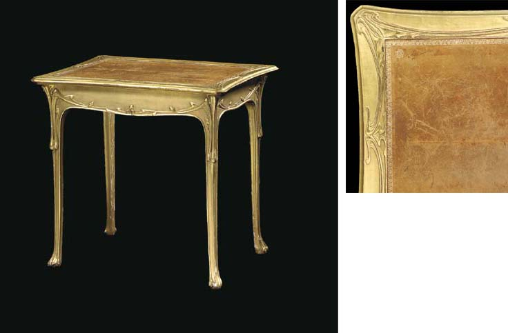 A CARVED GILT-WOOD SIDE TABLE