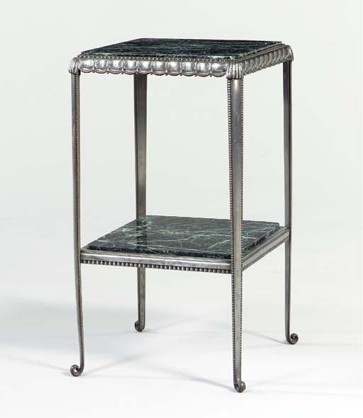 A SMALL STEEL TABLE