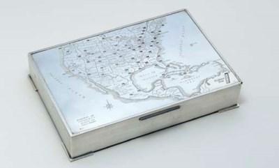 A NOVELTY SILVER CIGAR BOX