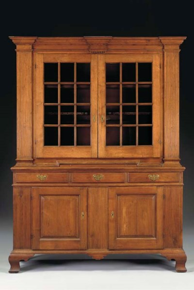 A CHIPPENDALE WALNUT STEP-BACK