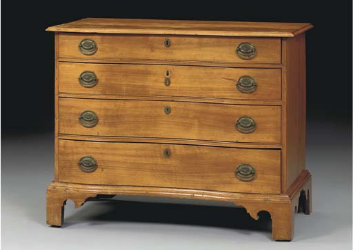 A CHIPPENDALE BIRCHWOOD REVERS