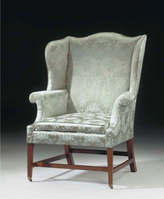 A FEDERAL MAHOGANY EASY CHAIR
