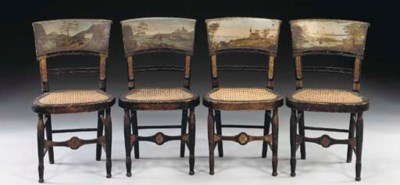 A SET OF FOUR CLASSICAL PAINT