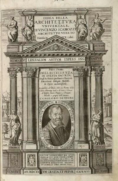 SCAMOZZI, Vincenzo. Dell'Archt