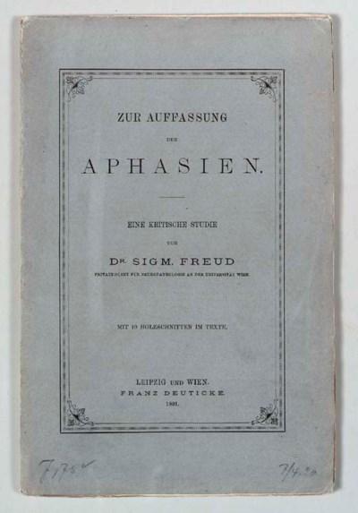 FREUD, Sigmund (1856-1939). Zu