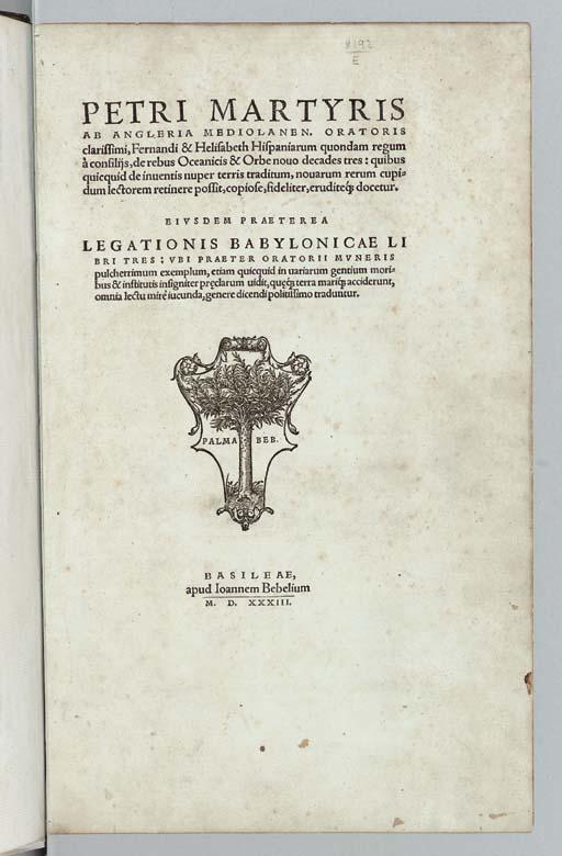 MARTYR, Peter [Pietro Martire