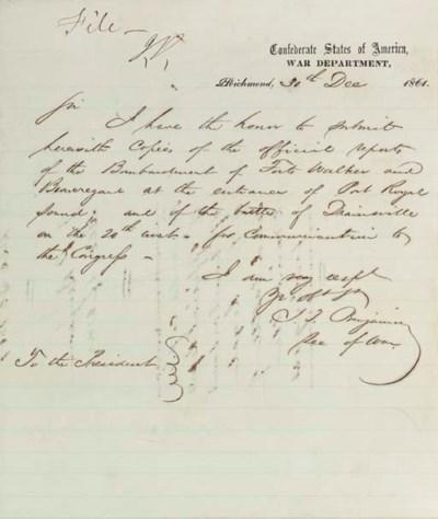 BENJAMIN, Judah P. (1811-1884)
