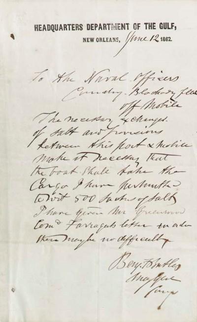 BUTLER, Benjamin Franklin (181