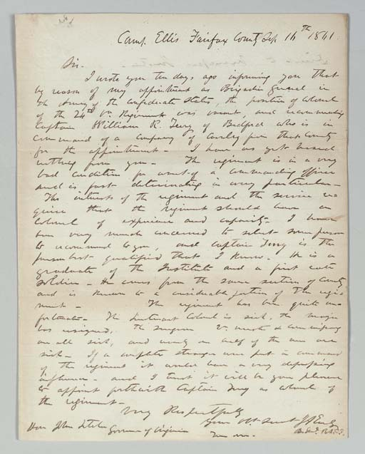EARLY, Jubal A. (1816-1894), G