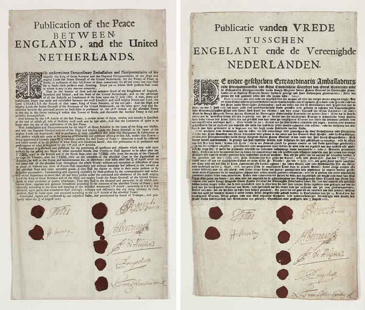 [BREDA, TREATY OF, 1667]. Publ