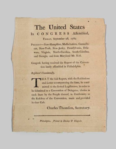 [CONSTITUTION, RATIFICATION].