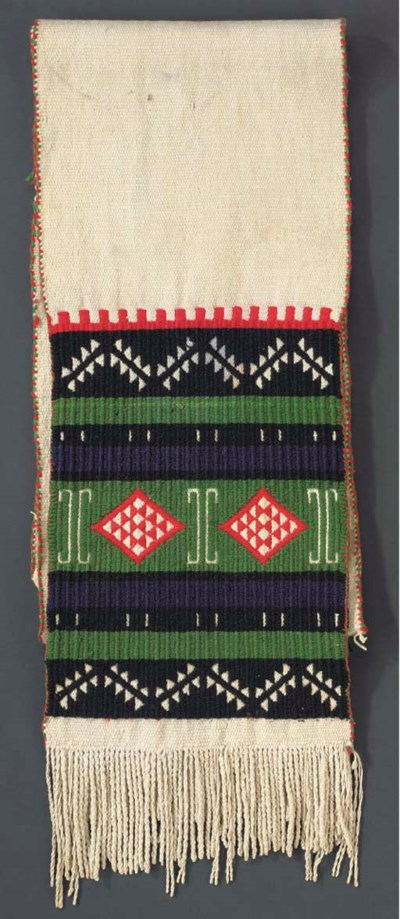 A HOPI BROCADED DANCE SASH