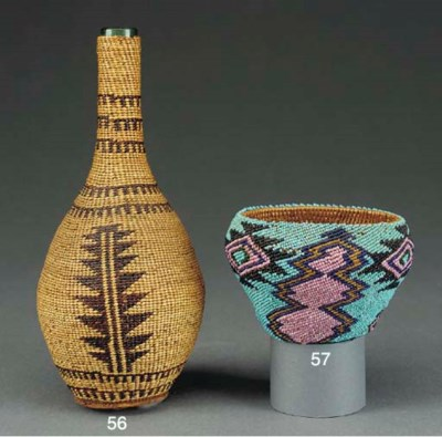 A KAROK TWINED BASKETRY COVERE