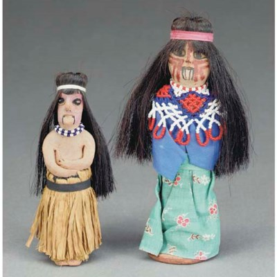 TWO YUMA POLYCHROME FEMALE DOL