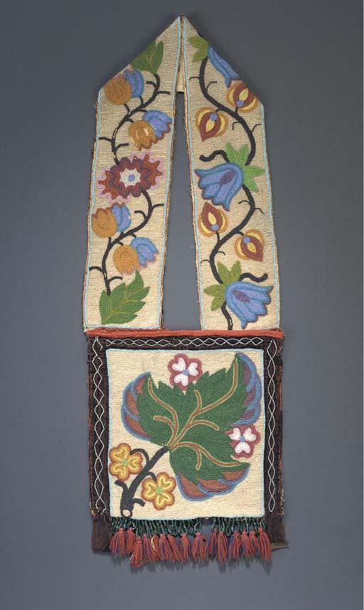 A CHIPPEWA BEADED CLOTH BANDOL