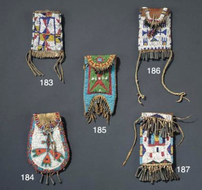 A SIOUX BEADED LEATHER STRIKE-