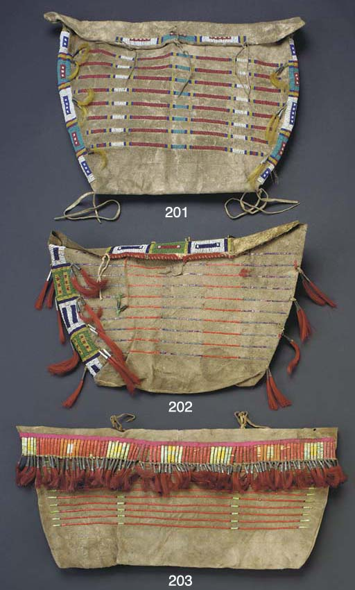 A LARGE SIOUX QUILLED HIDE POS