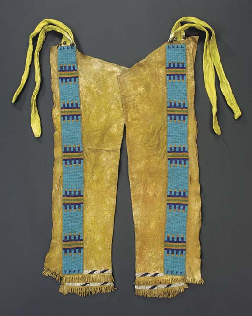 A PAIR OF PLAINS MAN'S BEADED