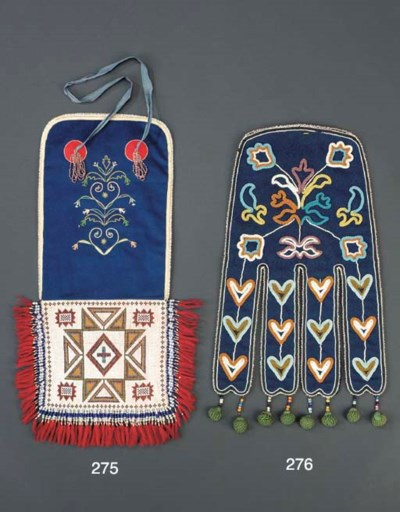 A CREE OR METIS BEADED CLOTH P