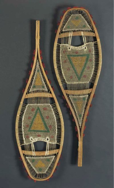 A PAIR OF PLAINS CREE WOOD AND