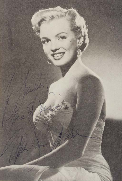 MARILYN MONROE SIGNED IMAGE