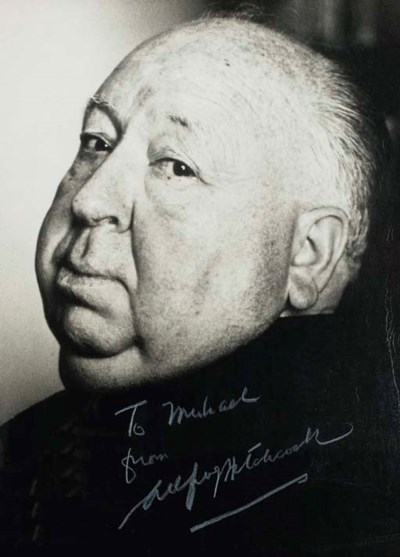 ALFRED HITCHCOCK SIGNED PHOTOG