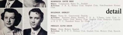 ELVIS PRESLEY SIGNED YEARBOOK