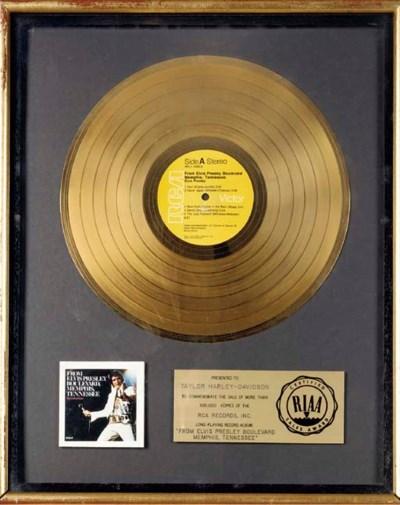 RIAA GOLD RECORD FOR