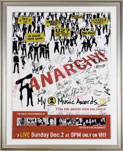 POSTER SIGNED BY CELEBRITIES