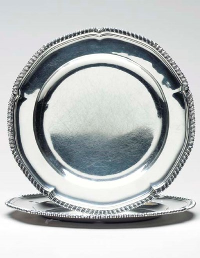 TWO GEORGE III SILVER DINNER P