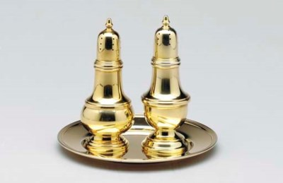 A GROUP OF GOLD-PLATED TABLE O