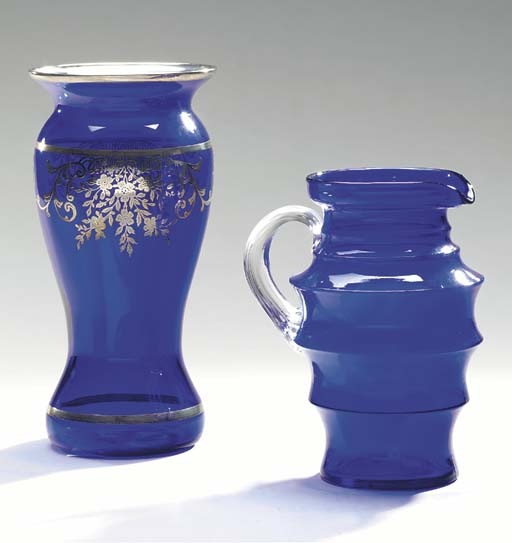 A CAMBRIDGE GLASSWORKS COBALT