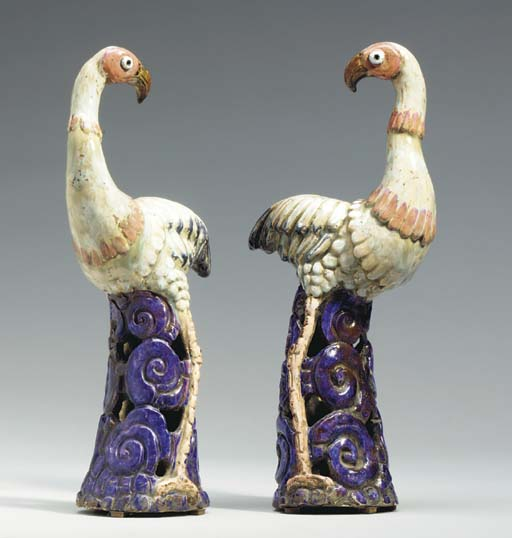 A PAIR OF ITALIAN EARTHENWARE