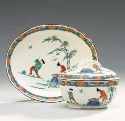A SEVRES LATER-DECORATED KAKIE
