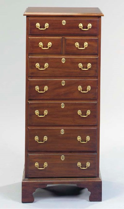A GEORGE III STYLE MAHOGANY CH