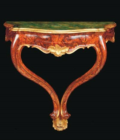 A ROCOCO STYLE CARVED AND PAIN