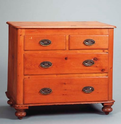 AN AMERICAN PINE LOW CHEST,