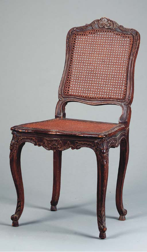 A LOUIS XV STYLE STAINED WALNU
