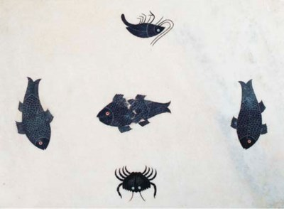 A PIETRA DURA INLAID LOW TABLE