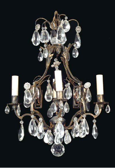 A LOUIS XV STYLE PATINATED MET