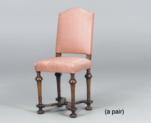 A PAIR OF JACOBEAN STYLE TURNE