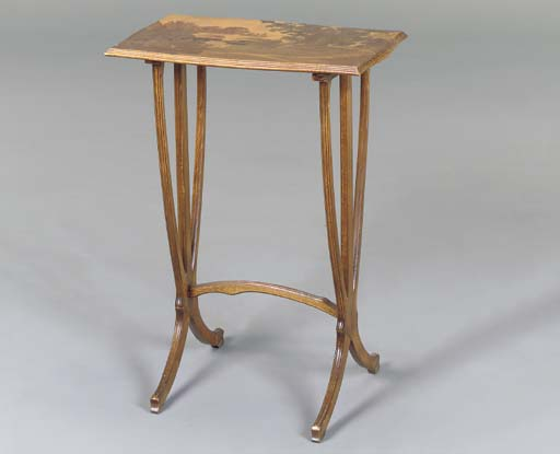 A MARQUETRY AND CARVED MAHOGAN