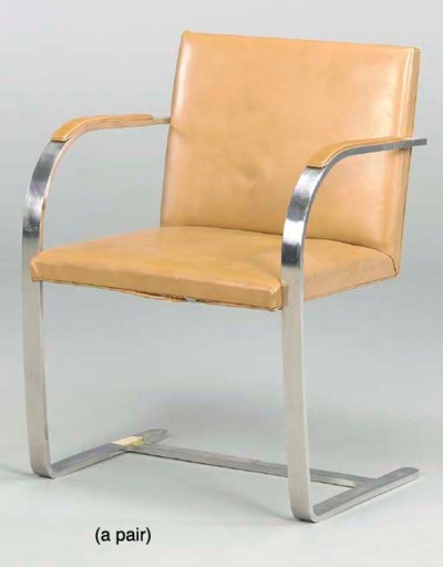 A PAIR OF FLAT CHROMED STEEL A