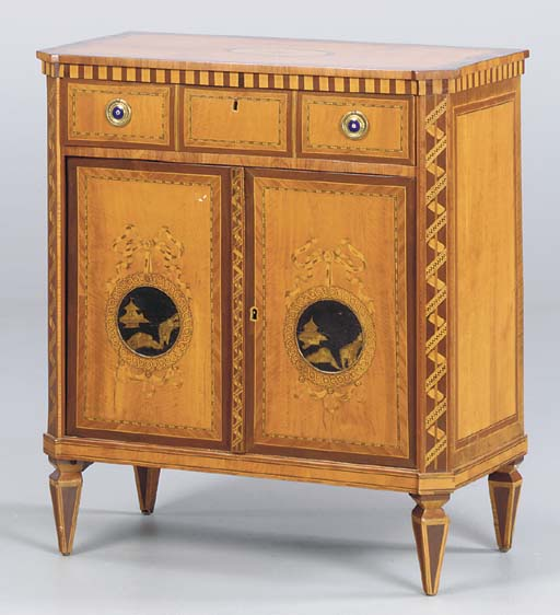 A DUTCH NEOCLASSICAL FRUITWOOD