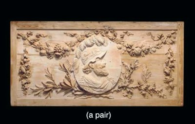 A PAIR OF LATE LOUIS XVI CARVE