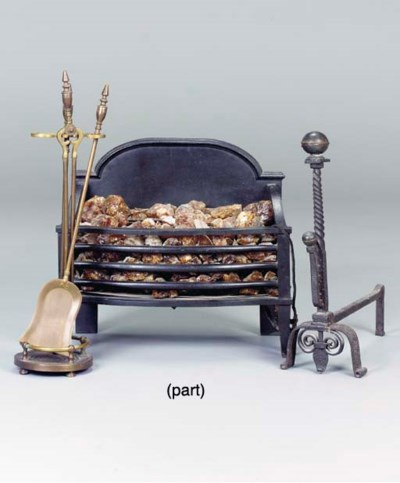 A GROUP OF FIREPLACE EQUIPMENT